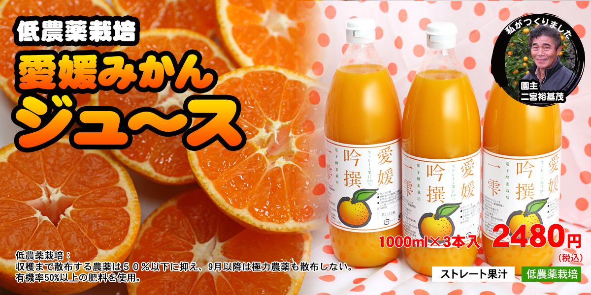 ストレート果汁みかんジュース